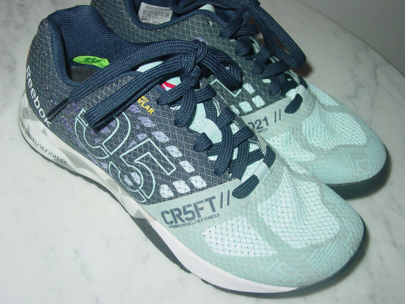 Damenschuhe Reebok Crossfit Nano 5.0 Kevlar Zee Blau V72418 Training Schuhes  Größe 6