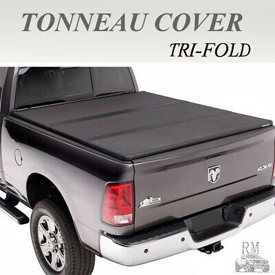 Tundra Bed Cover >> Lock Tri Fold Hard Solid Tonneau Cover Fit 2007 2019 Toyota Tundra 5 5ft 66 Bed Ebay