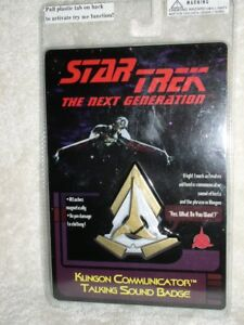 star trek the next generation klingon communicator talking sound