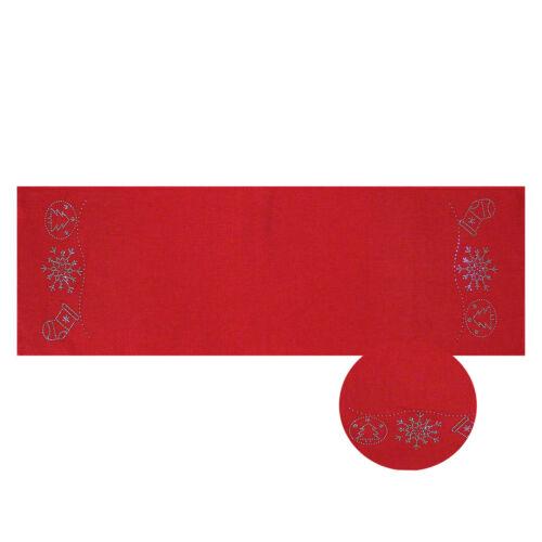 Tischläufer Weihnachten 40x140 cm Strassstein Weihnachtstischläufer Dessinwahl