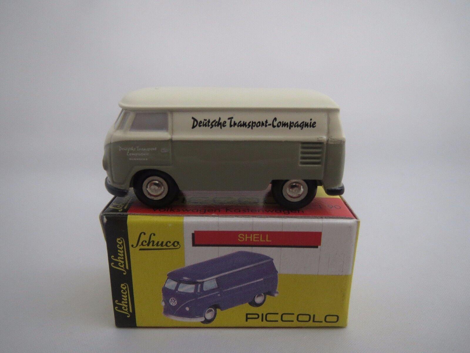 Schuco Piccolo Volkswagen Camionnette  DEUTSCHE-Transport-Compagnie    1 90 neuf dans sa boîte cea211