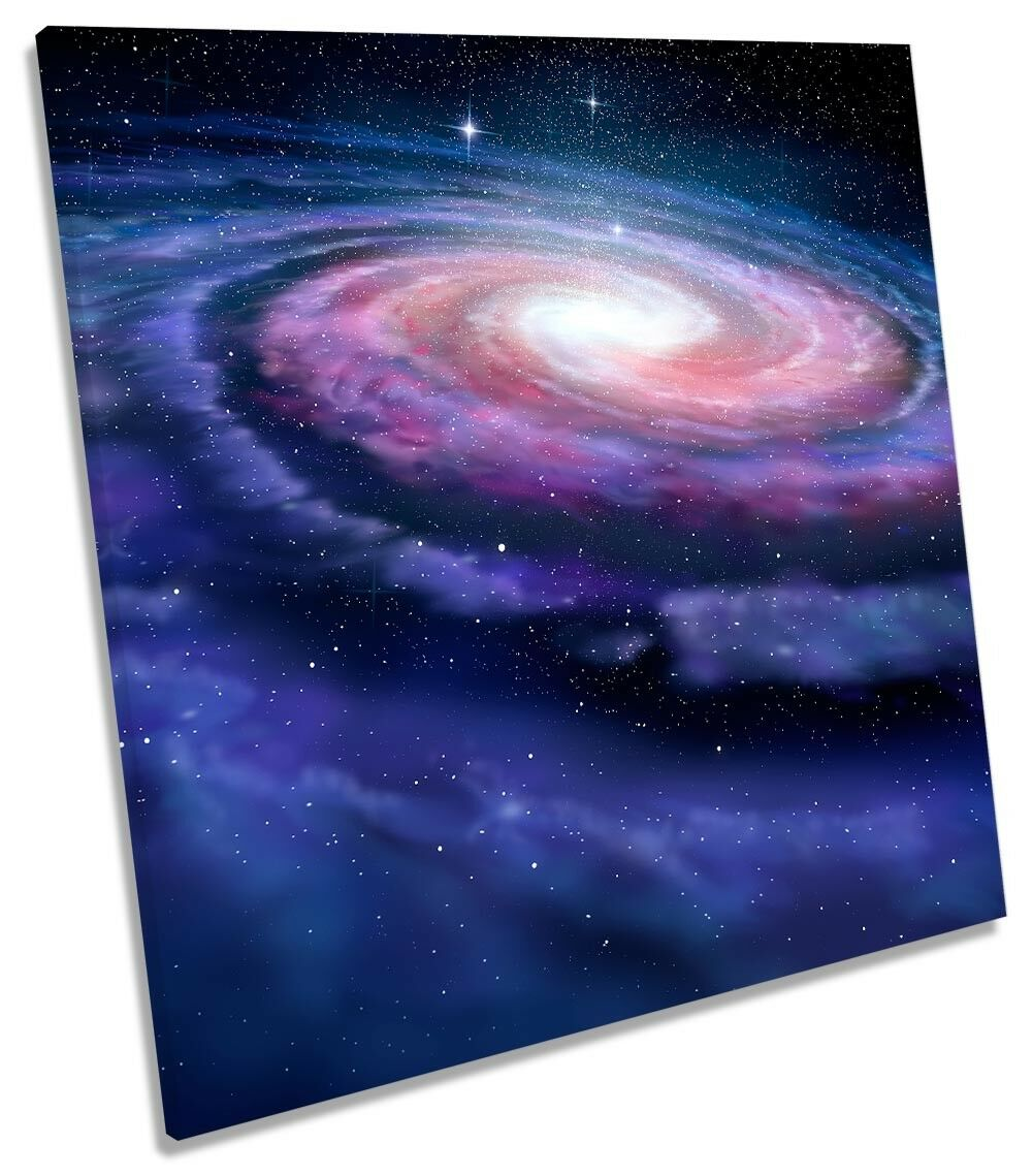 Milky Way Astronomy Space Framed CANVAS PRINT Square Wall Art