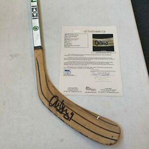 Alexander Mogilny Signed 1992 Game Used Hockey Stick JSA COA
