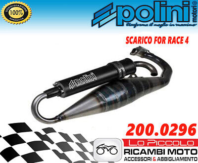 MARMITTA POLINI FOR RACE 4 PER PIAGGIO ZIP 50 SP H2O DAL 1996 AL 2000