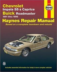 haynes chevrolet impala ss caprice 91 96 owners service repair rh ebay co uk 1993 Chevy Caprice Classic Parts 1993 Chevy Caprice Fuel Pump