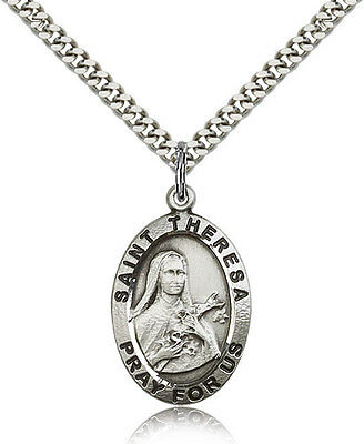 Beautiful Sterling silver 925 sterling Sterling Silver St Theresa Medal