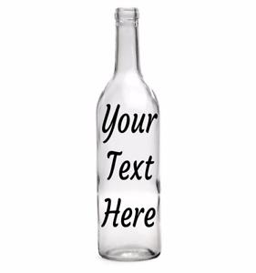 10 x Customised  Wine Bottle Vinyl Sticker Personalised memory decal