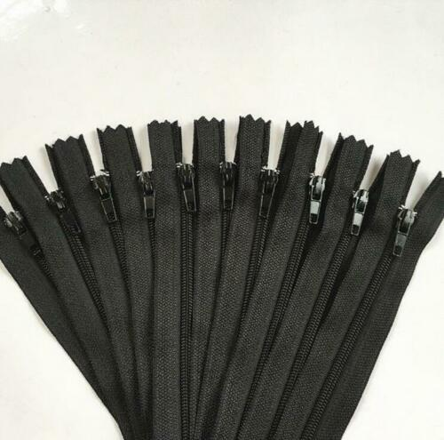 10 pcs Nylon Coil Zippers Tailor Sewer Craft 9 Inch Crafter/'s /&FGDQRS H~