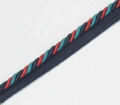Professionele Verkoop Flanged Binding/piping 8 Mm Cord,burg/blue/teal X 2,5,10 Mtrs,free P&p - Pl-3135 Keuze Materialen