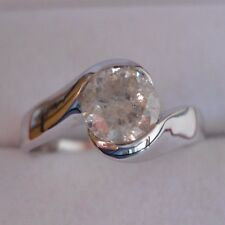 ANELLO SOLITARIO CONTRARIE IN ORO BIANCO KT 18 - DIAMANTE NATURALE CT 1.13