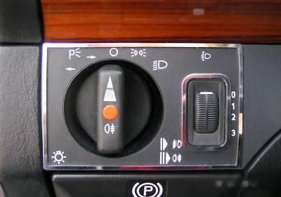 Edelstahl D Mercedes W124 Chrom 8 Rahmen für Schalter in der Mittelkonsole