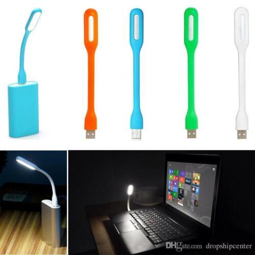 Mini USB LED Shining Light Bendable Lamp For Notebook Laptop Power Bank UK Sale