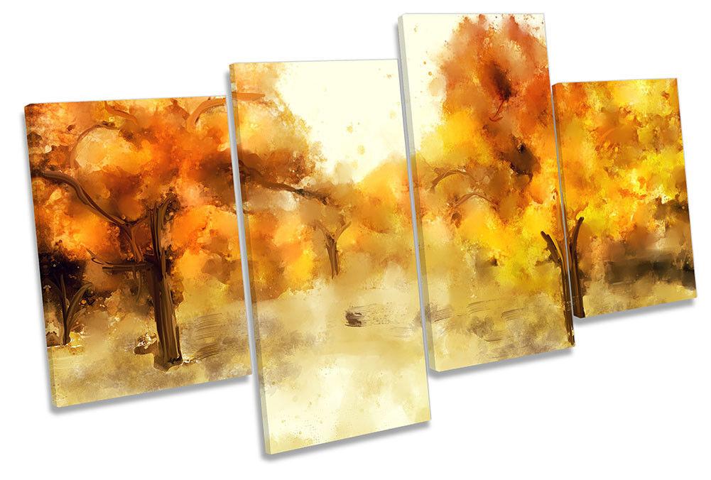 arancia Alberi Foresta Floreale Multi a muro opera d'arte art print