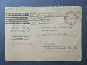 Germany-1940-Charlottenburg-POW-Cover-to-Switzerland-II-Z8101