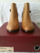 WOLVERINE Samantha Pleet Womens Leather Demi Boot Black/Tan US 9 UK 7 Med DM