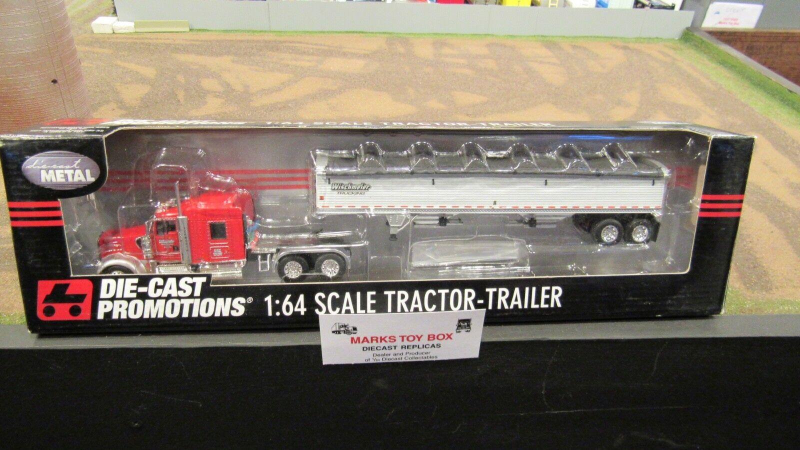 DCPwischmeiner Kw W900 Semi Camión Remolque de grano Wilson en tándem 1 64 FC
