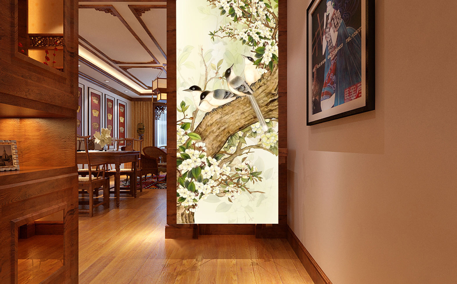 3D Trunks painted 109 Wall Paper wall Print Decal Wall Deco Indoor wall Mural