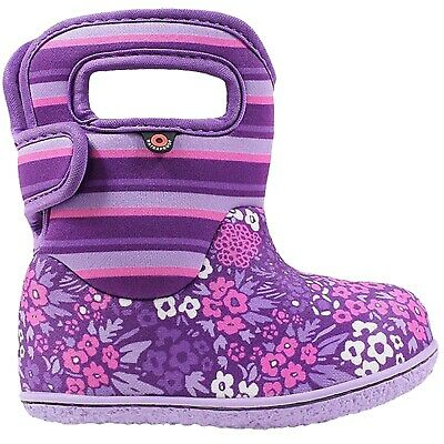 Girls Toddler Baby Pink// Lilac Floral Stormwells Wellies Wellington Boots 4 to 2