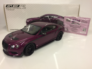 Almost Almost Almost Real 830404 Bentley Continental GT3-R 2015 Magenta 1 18 Scale afdf51