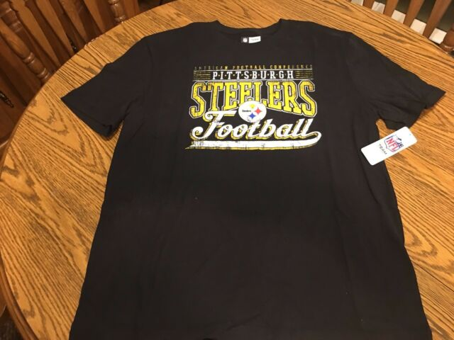 83fd07bf69b5f NFL Team Apparel Pittsburgh Steelers Black T-shirt Mens Large for ...