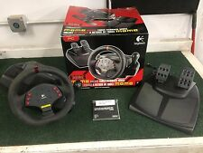 Logitech Momo Force Feedback Racing Steering Wheel w/pedals USB for PC w/charger
