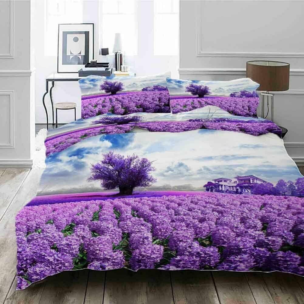 lila Tree House 3D Printing Duvet Quilt Doona Covers Pillow Case Bedding Sets