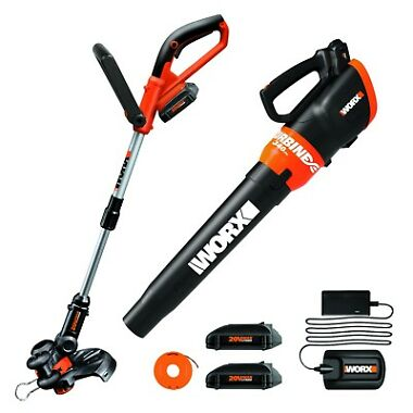 Worx Cordless String Trimmer & Turbine Blower Combo Kit
