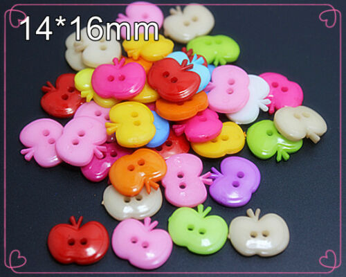 25 X Mixed Color Apple Nylon Buttons Fit Sewing Or Scrapbook UK Seller