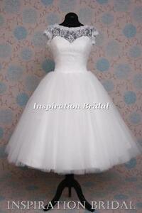 Uk-1374-short-wedding-dress-bridal-gown-skirt-tulle-lace-tea-length-knee-beach