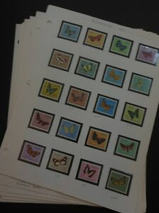 WORLDWIDE TOPICAL : Beautiful collection of Butterflies. Almost all VF, Mint NH.