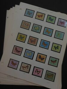 WORLDWIDE TOPICAL : Beautiful collection of Butterflies. Almost all VF, Mint NH