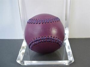 Spinneybeck Leathercraft Baseball ~ Purple Leather Purple Stitching