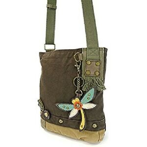Image Is Loading New Chala Patch Crossbody Dragonfly Bag Canvas Gift