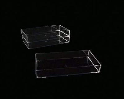 4 Stück Organizer für Kosmetik Schmuck Kleinteile stapelbar Acrylglas 15H1282