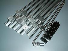 2 x SBR20-400mm linear rail guides /&ballscrew RM1605-400mm+1 BK//BF12 /& couplers