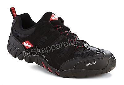 Lee Cooper s1/p Puntera De Acero Y Suela De Seguridad Trabajo formador Zapato Bota lc008