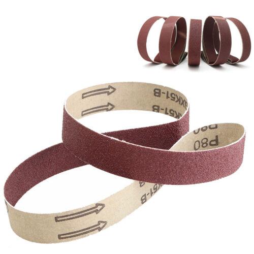 """1//5pcs Aluminum Oxide Sanding Belts 25x762mm Sander Abrasive 1/""""x30/"""" 60~1000 Grit"""