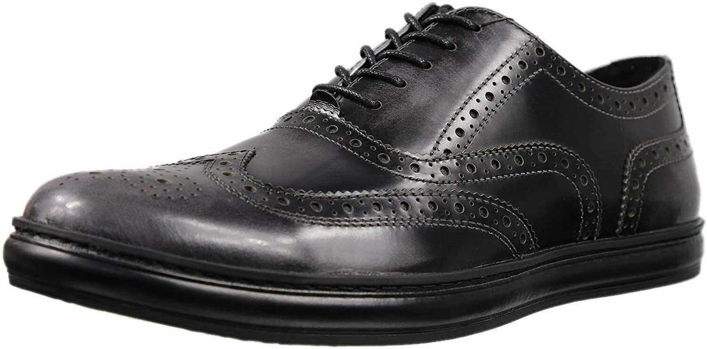Kenneth Cole New York Brand Sneaker D Oxford- Grey/Black, Size 12 [KMU8002XL 020