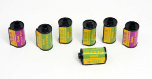 Vintage-Kodak-Empty-35mm-Cassettes-Lot-of-7-TX-amp-PX