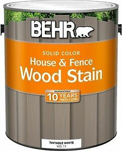 Behr 1 Gal Rose Beige Solid Color House And Fence Wood Stain Self