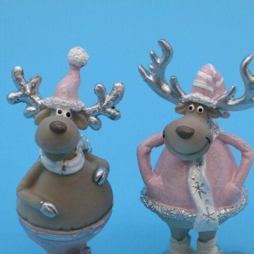 Gattin ❤ 2er SET Weihnachtsdeko Dekorationsfiguren Wohndeko Ladendeko ❤ RUDI