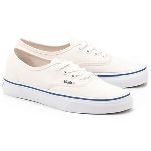 VANS AUTHENTIC WHITE BLUE OFF WHITE CREAM CANVAS LOW SZ 4-13 EE3WHT ... 1b0674339c