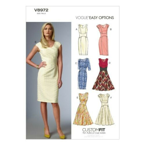 Vogue Sewing Pattern V8972 Women/'s Dress In Various Styles