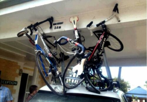 WARNING SIGN Two for 1 Sale The Best Car Bike /& Gear Roof Rack Reminder Ever!!