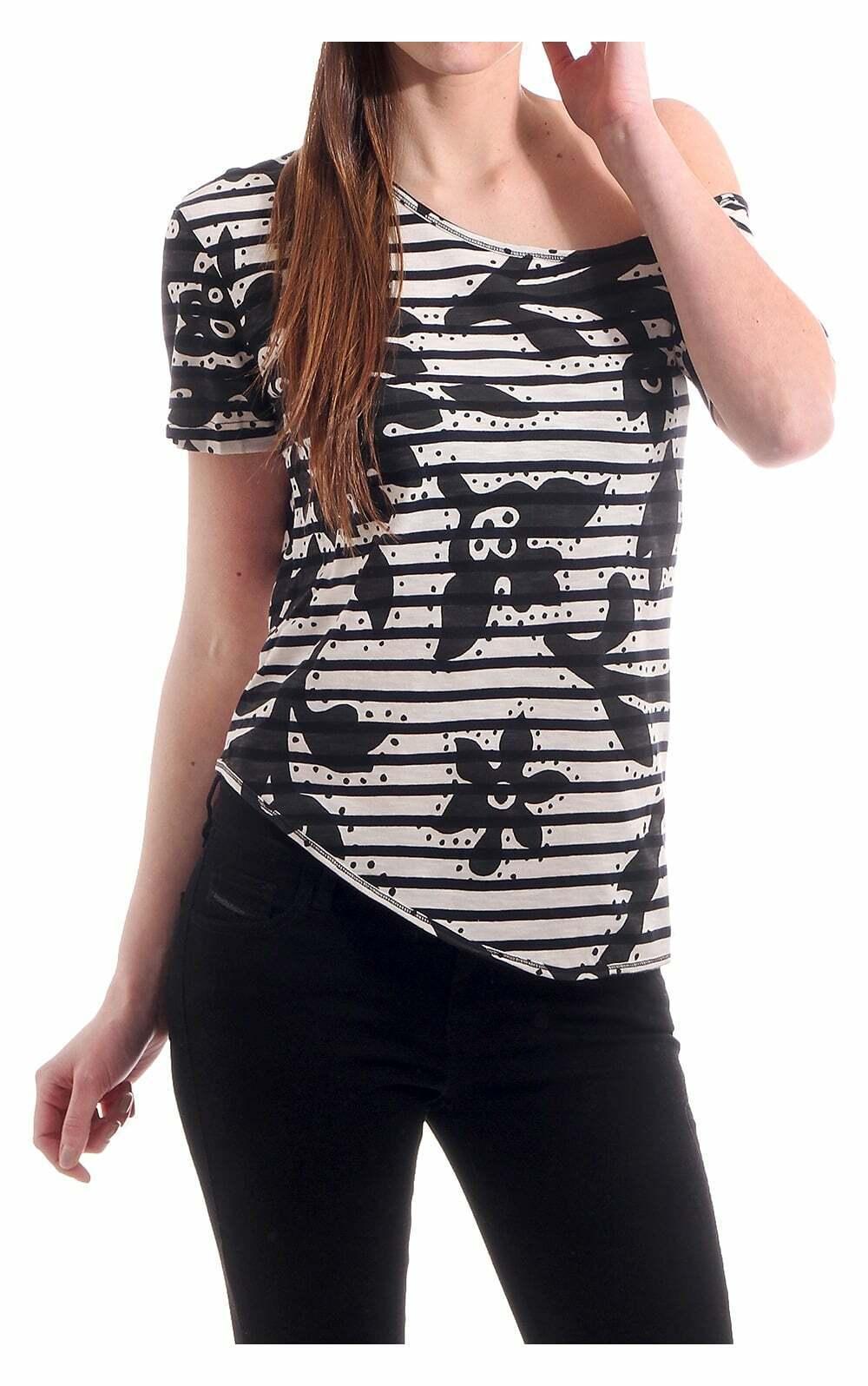 Vivienne Westwood Woherren Anglomania One Shoulder Bold Patterned T Shirt