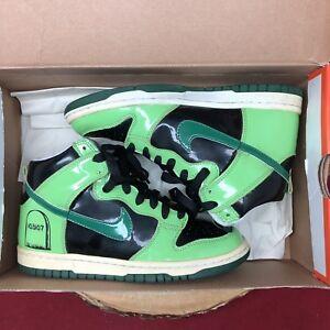 0c80cd55cb0d Nike SB Dunk High Premium Halloween Green Black SZ 4.5y 318633 012 ...