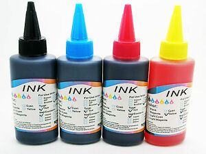 561 4 x Recarga Tinta 100 ml Universal para Impresora Impresion Inyeccion Color