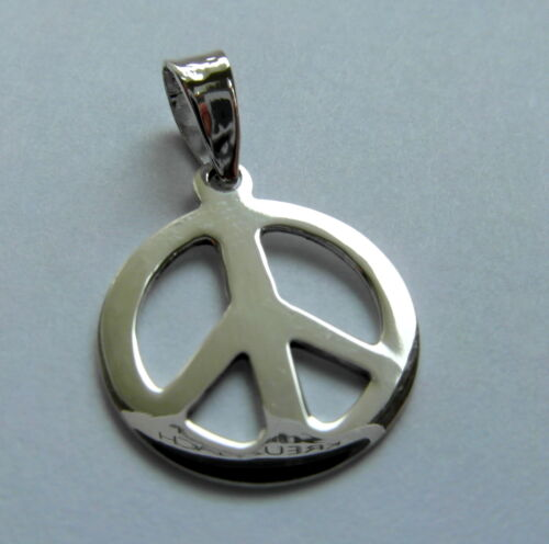 ! 15 mm Peace Sign  Pendant Sterling Silver Brand  New  !! 925
