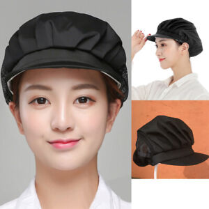 2PC Elastic Cap Dustproof Hair Nets Hat Catering Cook Baker Waiter Cap Chef Hat