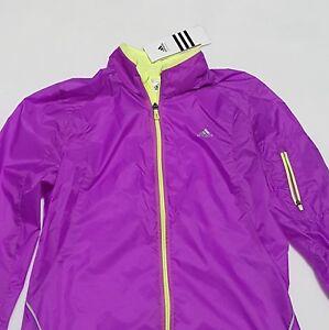 NEW-Adidas-Sz-S-Jacket-Womens-Reflective-MiCoach-Zip-Purple-Light-Windbreaker
